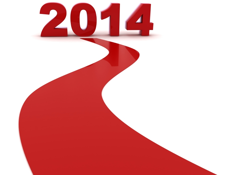 Red road to 2014 Sign